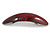Red/ Black Acrylic Oval Barrette/ Hair Clip In Silver Tone - 90mm Long - view 7