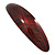 Red/ Black Acrylic Oval Barrette/ Hair Clip In Silver Tone - 90mm Long - view 9