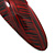 Red/ Black Acrylic Oval Barrette/ Hair Clip In Silver Tone - 90mm Long - view 4