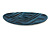 Blue/ Black Acrylic Oval Barrette/ Hair Clip In Silver Tone - 90mm Long - view 7