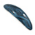 Blue/ Black Acrylic Oval Barrette/ Hair Clip In Silver Tone - 90mm Long - view 8