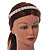 Bridal/ Wedding/ Prom Rose Gold Tone Clear Crystal, Faux White Glass Pearl Tiara Headband - view 3