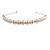 Bridal/ Wedding/ Prom Rose Gold Tone Clear Crystal, Faux White Glass Pearl Tiara Headband - view 7