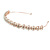 Bridal/ Wedding/ Prom Rose Gold Tone Clear Crystal, Faux White Glass Pearl Tiara Headband - view 8