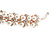 Bridal/ Wedding/ Prom Rose Gold Tone Clear Crystal, Faux White Glass Pearl Tiara Headband - view 4
