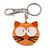 Plastic Funky Cat Key Ring/Handbag Charms (Brown)