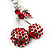 Ruby Red Coloured Diamante Cherry Keyring - view 4