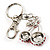 Ruby Red Coloured Diamante Cherry Keyring - view 5