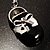 Black And White Enamel Doll Shoe Keyring (Silver Tone) - view 7