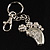 Funky Crystal Foot Key Ring/ Bag Charm (Silver Tone) - view 6