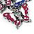 Silver Tone Crystal Enamel Butterfly Keyring/ Bag Charm - view 4
