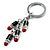 Silver Tone Crystal Enamel Lipstick Keyring/ Bag Charm - view 4