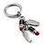 Silver Tone Crystal Enamel Lipstick Keyring/ Bag Charm - view 6