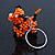 Orange/ Black Glass Bead Scottie Dog Keyring/ Bag Charm - 8cm Length - view 4
