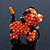 Orange/ Black Glass Bead Scottie Dog Keyring/ Bag Charm - 8cm Length - view 5