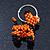 Orange/ Black Glass Bead Scottie Dog Keyring/ Bag Charm - 8cm Length - view 6