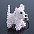 White/ Pink Glass Bead Scottie Dog Keyring/ Bag Charm - 8cm Length - view 7