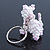 White/ Pink Glass Bead Scottie Dog Keyring/ Bag Charm - 8cm Length - view 4