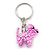 Baby Pink Glass Bead Scottie Dog Keyring/ Bag Charm - 8cm Length - view 7