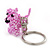 Baby Pink Glass Bead Scottie Dog Keyring/ Bag Charm - 8cm Length - view 9