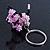 Pink/ Black Glass Bead Scottie Dog Keyring/ Bag Charm - 8cm Length - view 2