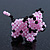 Pink/ Black Glass Bead Scottie Dog Keyring/ Bag Charm - 8cm Length - view 5