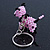 Pink/ Black Glass Bead Scottie Dog Keyring/ Bag Charm - 8cm Length - view 7