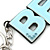 'BFF' Light Blue Plastic Rhodium Plated Keyring/ Bag Charm - 85mm Length - view 3