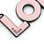'LOL' Light Pink Plastic Rhodium Plated Keyring/ Bag Charm - 80mm Length - view 2