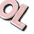 'LOL' Light Pink Plastic Rhodium Plated Keyring/ Bag Charm - 80mm Length - view 3