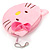 Ligth Pink Kitty Fabric Coin Purse/ Bag Charm for Kids - 10.5cm Width - view 2