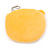 Happy Bear Yellow Fabric Coin Purse/ Bag Charm for Kids - 10.5cm Width - view 2