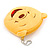 Happy Bear Yellow Fabric Coin Purse/ Bag Charm for Kids - 10.5cm Width - view 3