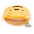 Happy Bear Yellow Fabric Coin Purse/ Bag Charm for Kids - 10.5cm Width - view 4