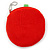 Yummy Strawberry Red/ Green Fabric Coin Purse/ Bag Charm for Kids - 10cm Width - view 2