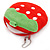 Yummy Strawberry Red/ Green Fabric Coin Purse/ Bag Charm for Kids - 10cm Width - view 4