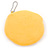Smiling Face Bright Yellow Fabric Coin Purse/ Bag Charm for Kids - 10.5cm Width - view 2
