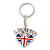 I Love London Keyring/ Bag Charm SOUVENIR - 9cm L - view 7