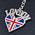 I Love London Keyring/ Bag Charm SOUVENIR - 9cm L - view 3