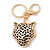 Crystal Tiger Keyring/ Bag Charm In Gold Plating - 11cm L - view 9