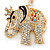 Crystal Queen Elephant Keyring/ Bag Charm In Gold Plating - 11cm L - view 8