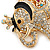 Crystal Queen Elephant Keyring/ Bag Charm In Gold Plating - 11cm L - view 7