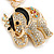Crystal Queen Elephant Keyring/ Bag Charm In Gold Plating - 11cm L - view 3