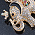 Crystal Queen Elephant Keyring/ Bag Charm In Gold Plating - 11cm L - view 4