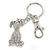 Clear Austrian Crystal Dog Keyring/ Bag Charm In Silver Tone - 11cm L - view 2