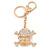Clear Crystal Skull & Crossbones Keyring/ Bag Charm In Gold Tone - 12cm L - view 6