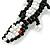 Black/ White Glass Bead Crocodile Keyring/ Bag Charm - 17cm Length - view 3