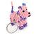 Pink/ Purple Glass Bead Scottie Dog Keyring/ Bag Charm - 8cm L - view 2