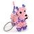 Pink/ Purple Glass Bead Scottie Dog Keyring/ Bag Charm - 8cm L - view 5