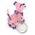 Pink/ Purple Glass Bead Scottie Dog Keyring/ Bag Charm - 8cm L - view 4